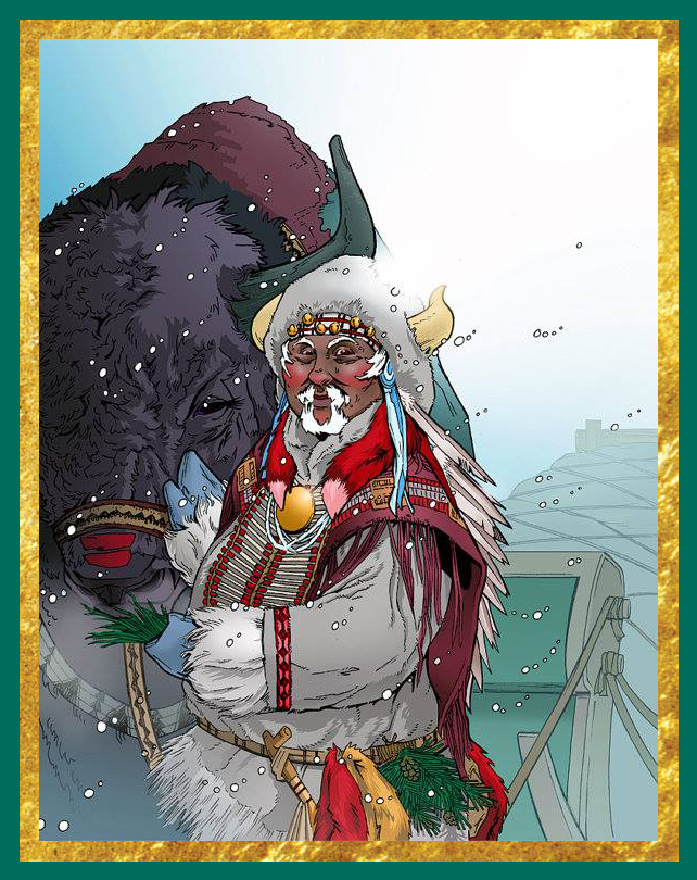 Indigenous Santa by Bridgit Connell (Used with permission)